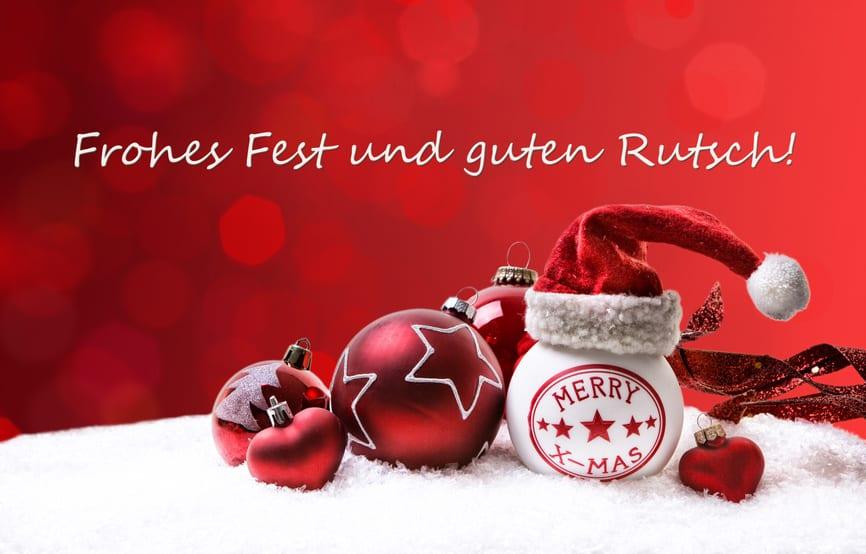 Frohe Weihnachten – Guten Rutsch !