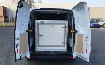 Tiefkühlcontainer für Essen auf Rädern